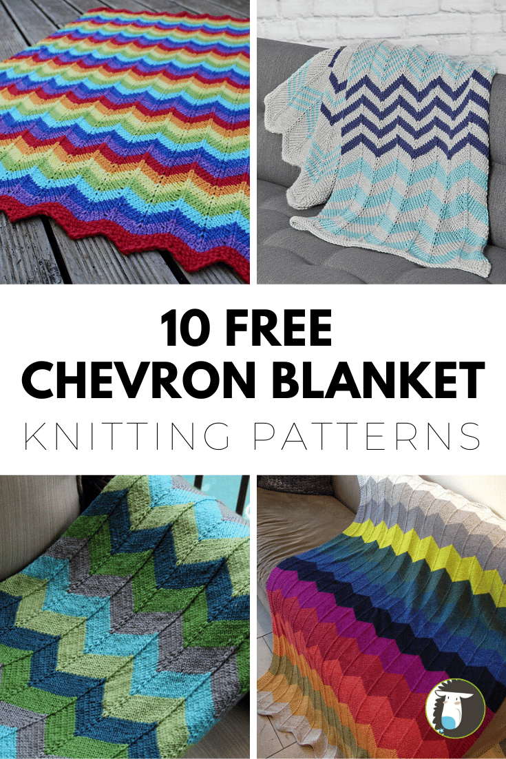 10 Free Chevron Blanket Knitting Patterns Easy Diy Projects To Knit Blog Nobleknits