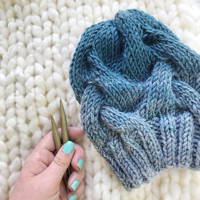 Instant Download Cable Hat Pattern BFC Beanie Knitting Pattern; Hat Knitting Pattern PDF