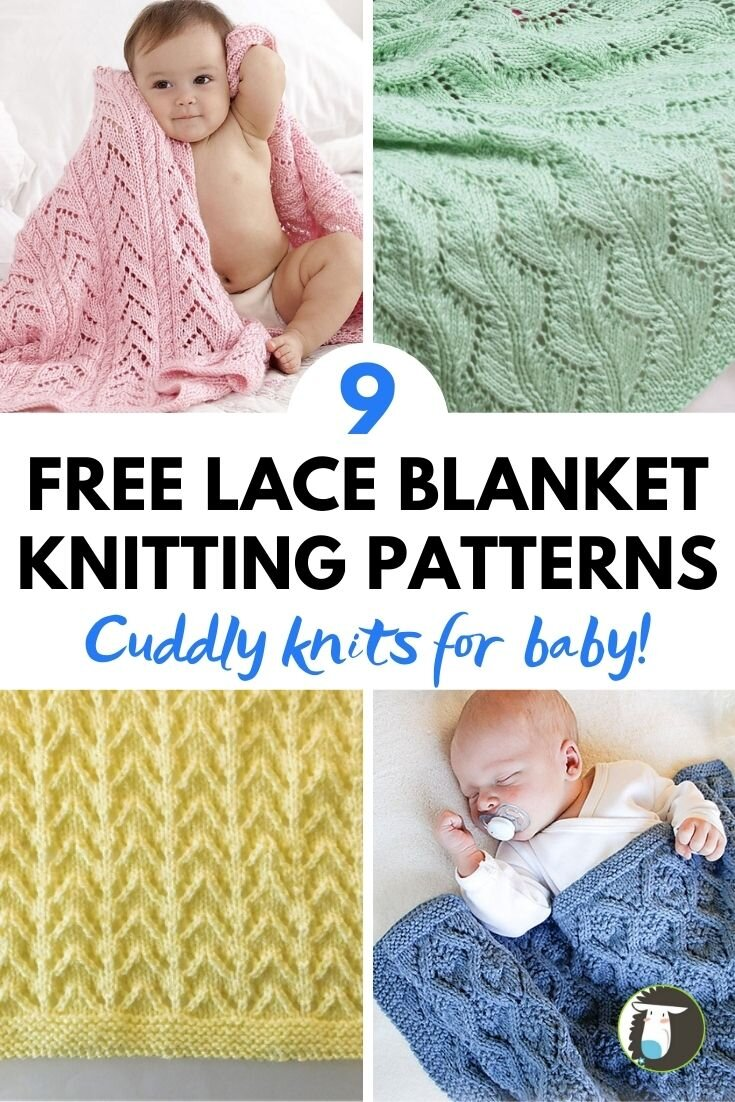 9 Lace Baby Blanket Free Knitting Patterns Blog Nobleknits