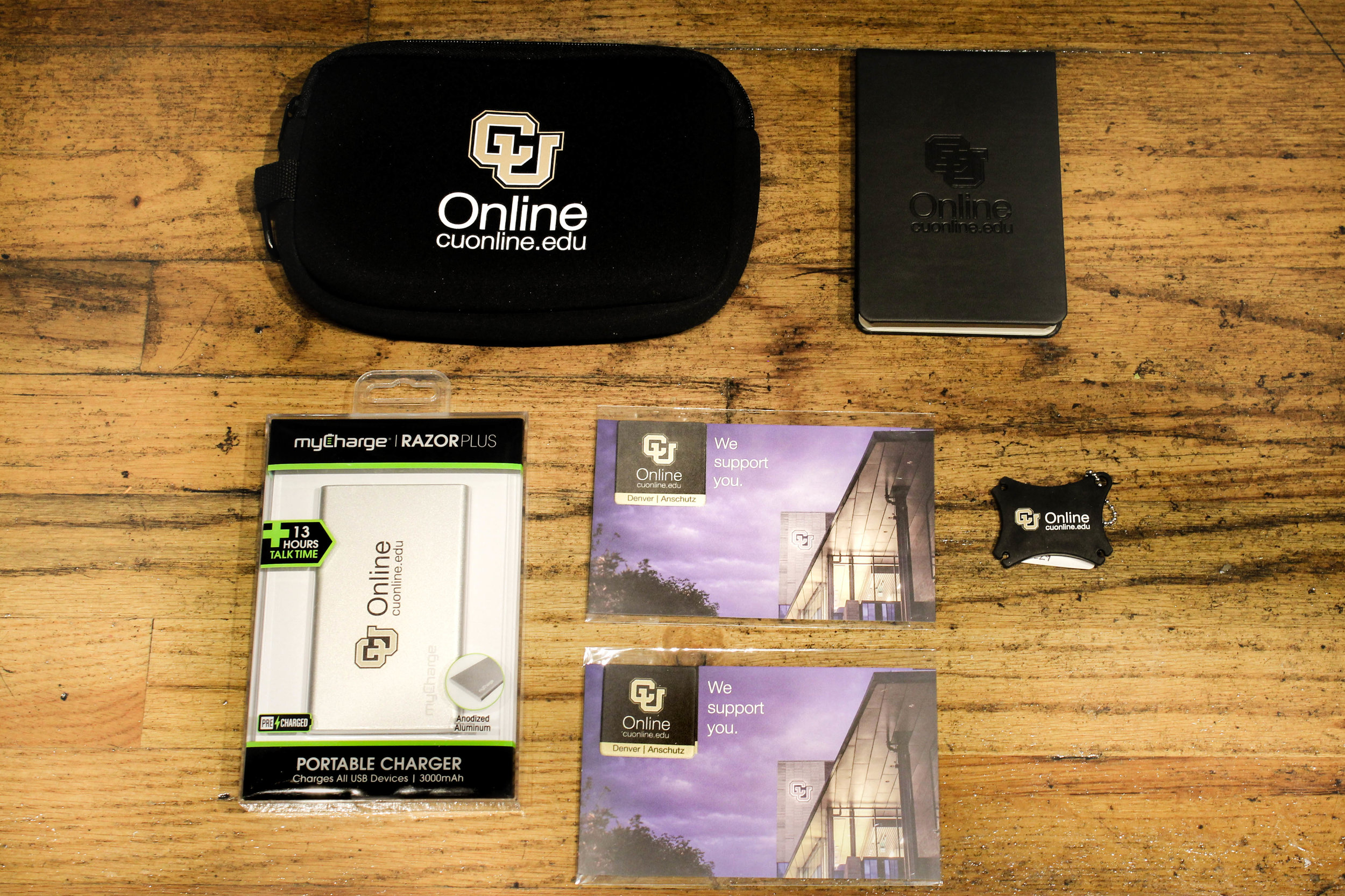 Well thought out products that support CU Online's brand image.