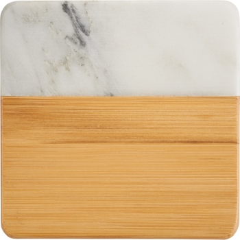 Marble & Bamboo Coasters -