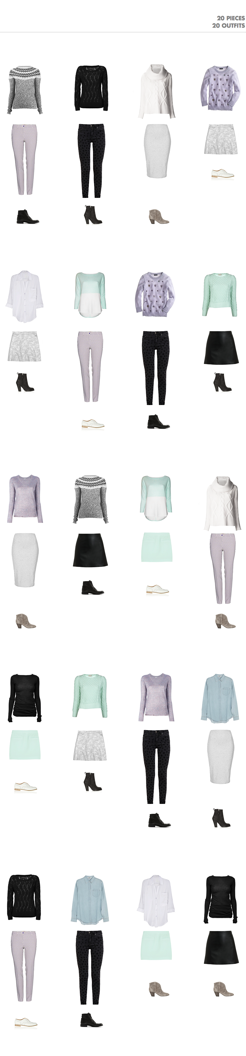 Winter Capsule Wardrobe: 20 Outfits with 20 Pieces