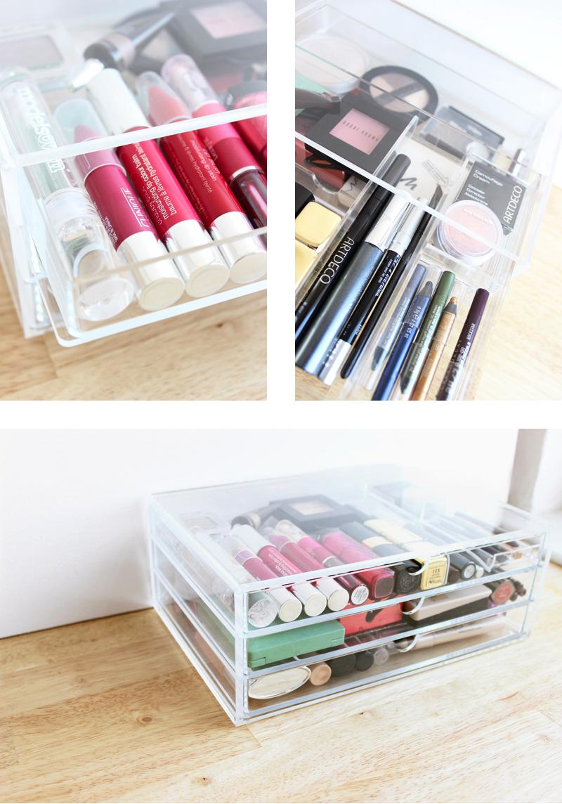 Storing Make up 101: Acrylic Drawers