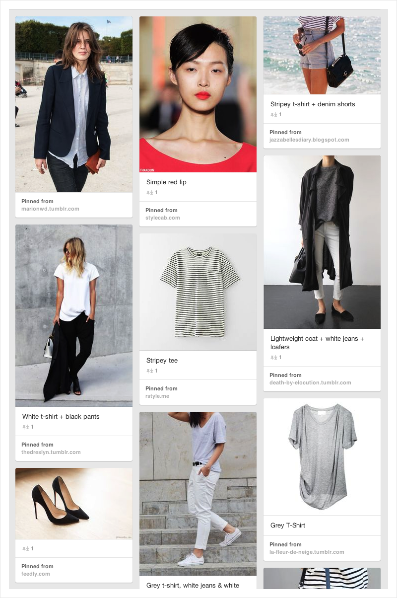 How to Plan a Travel Wardrobe on a Pinterest Board