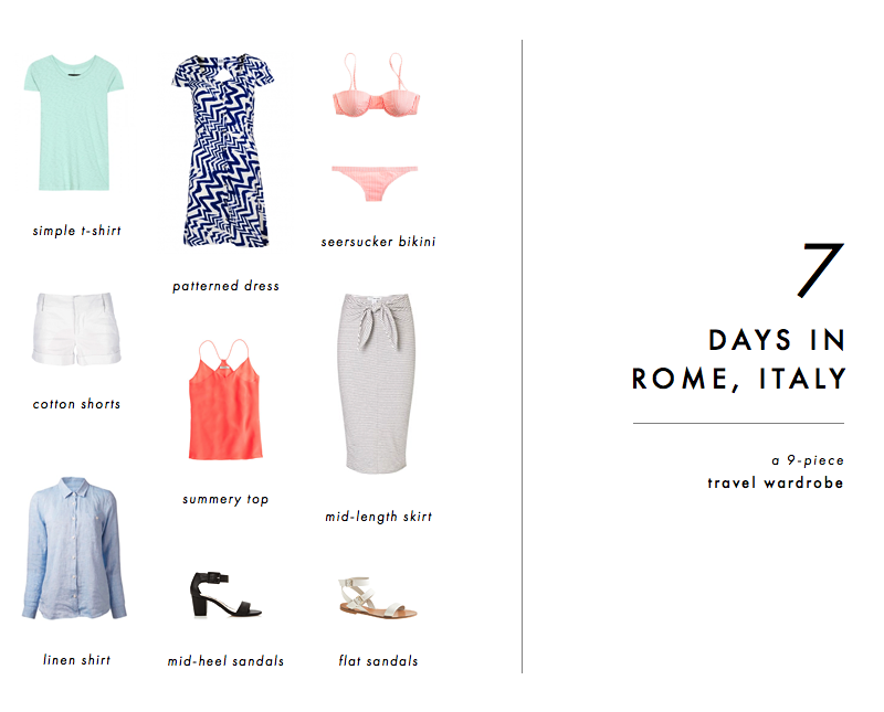 Travel Wardrobe for 1 Week in Rome, Italy