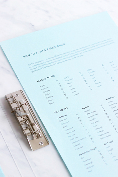 How to define your personal style & build the perfect wardrobe: A workbook