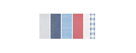 Colour palette for a summer capsule wardrobe