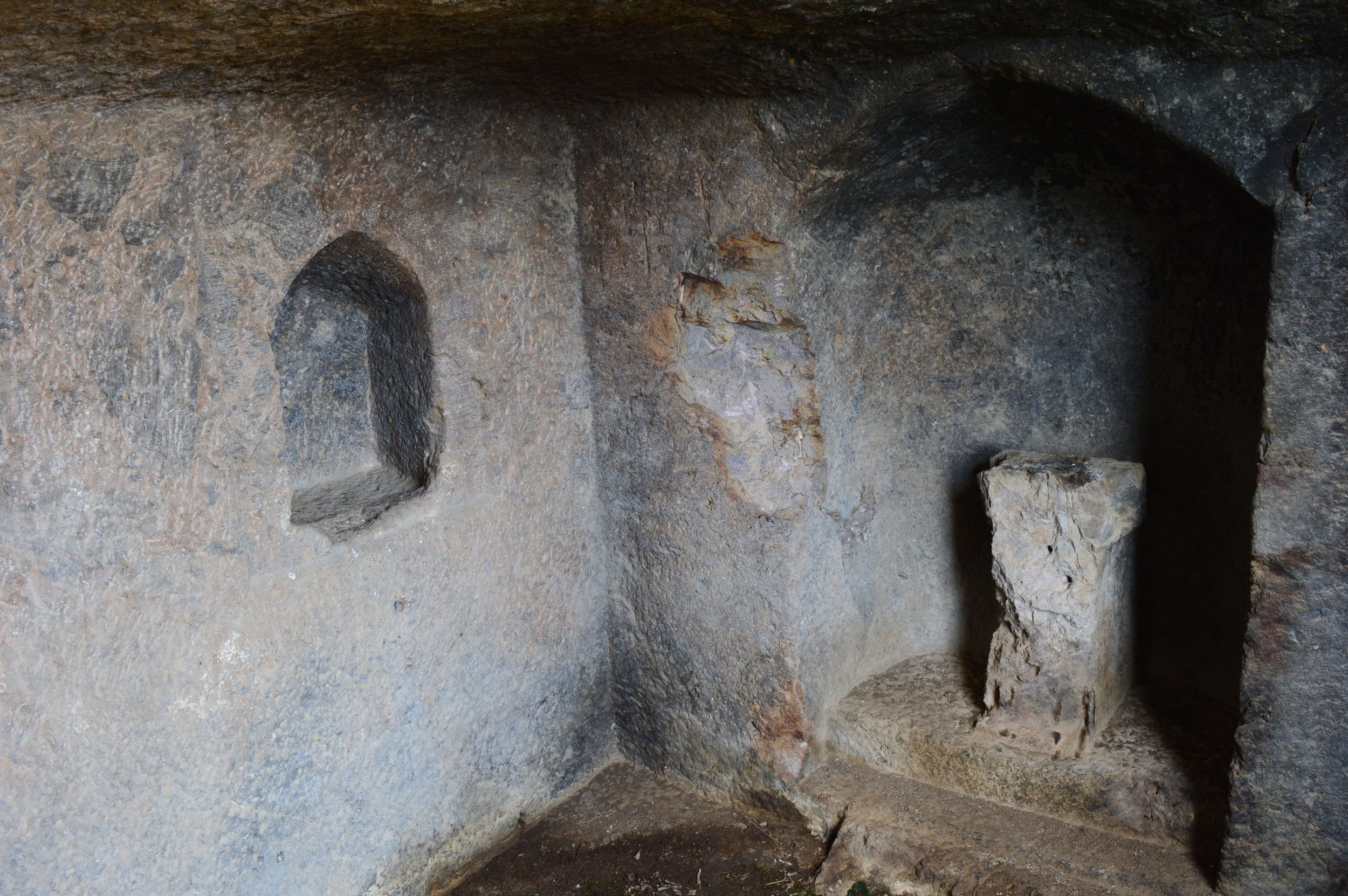 Inside the rock temple.