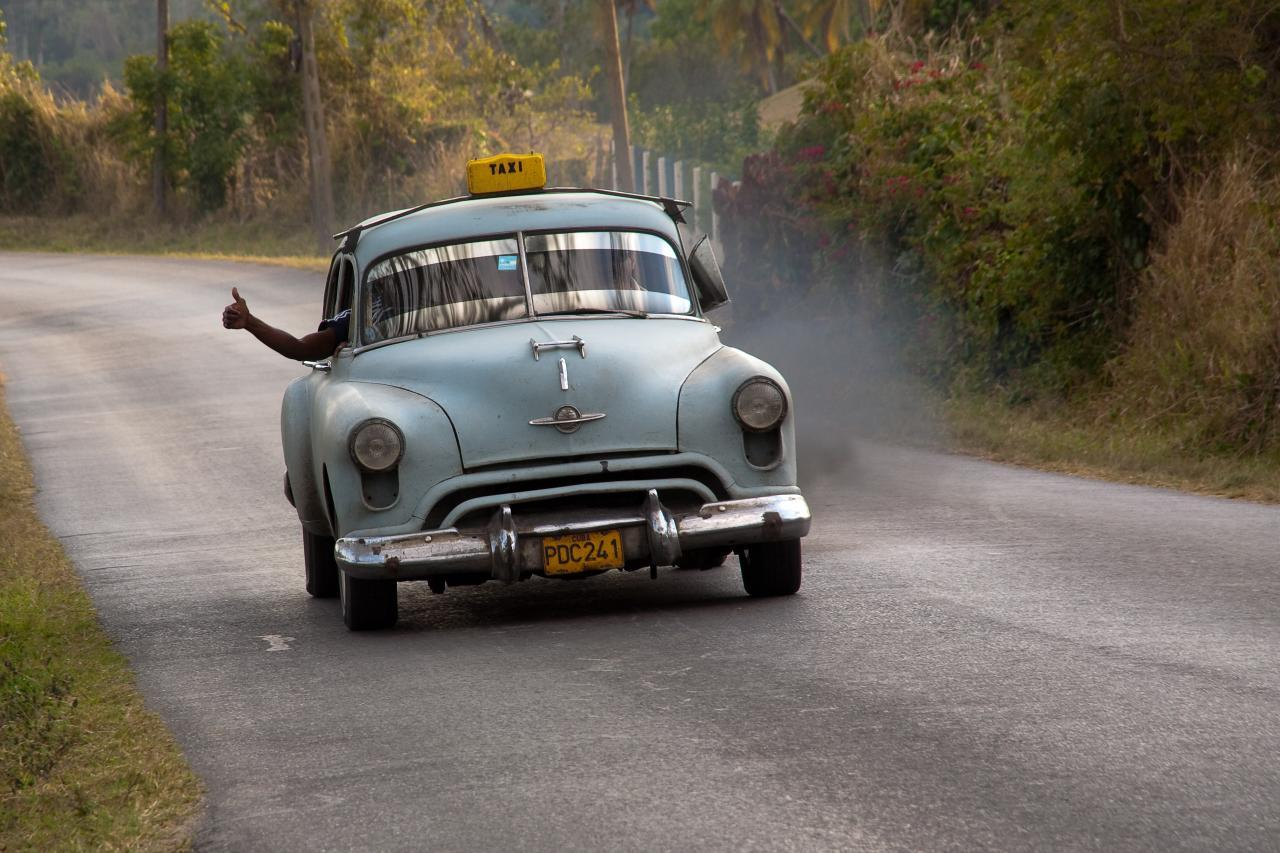 via   A taxi in Cuba. To American eyes, it's a vintage model, but the picture was taken in 2009. FLICKR PHOTO/KAYUGEE (CC-BY-NC-ND)