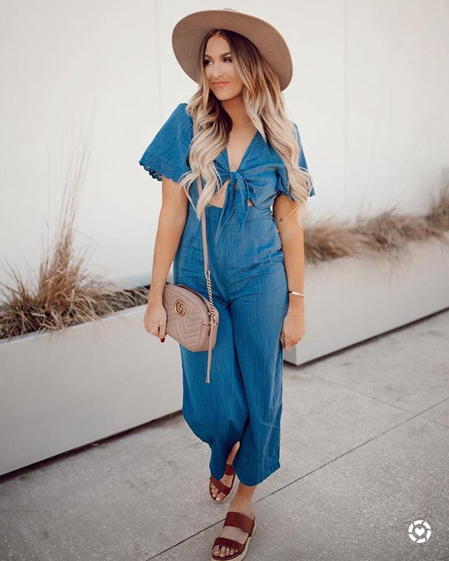 Happy Saturday friends! You guys it's so nice outside today!! So I'm rocking this jumpsuit of my freaking dreams, so cute!  #liketkit @liketoknow.it Shop my daily looks by following me on the LIKEtoKNOW.it app http://liketk.it/2AC8M