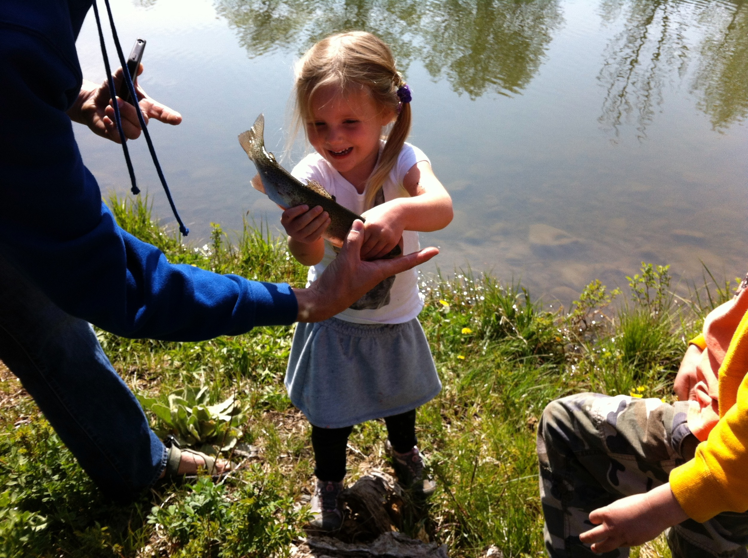 The first fish leah ever caught with Dave. May 2012.