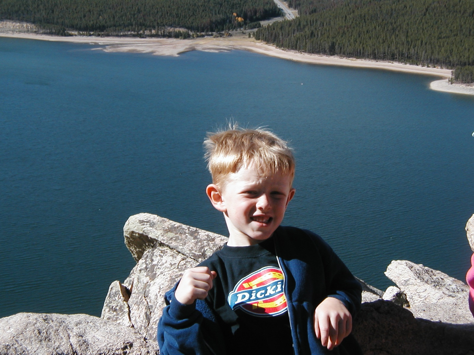 5 year old Jack. Hadn't lost a tooth yet...had a baby sister he wasn't too thrilled about. Loved to climb the incline with his grandpa.