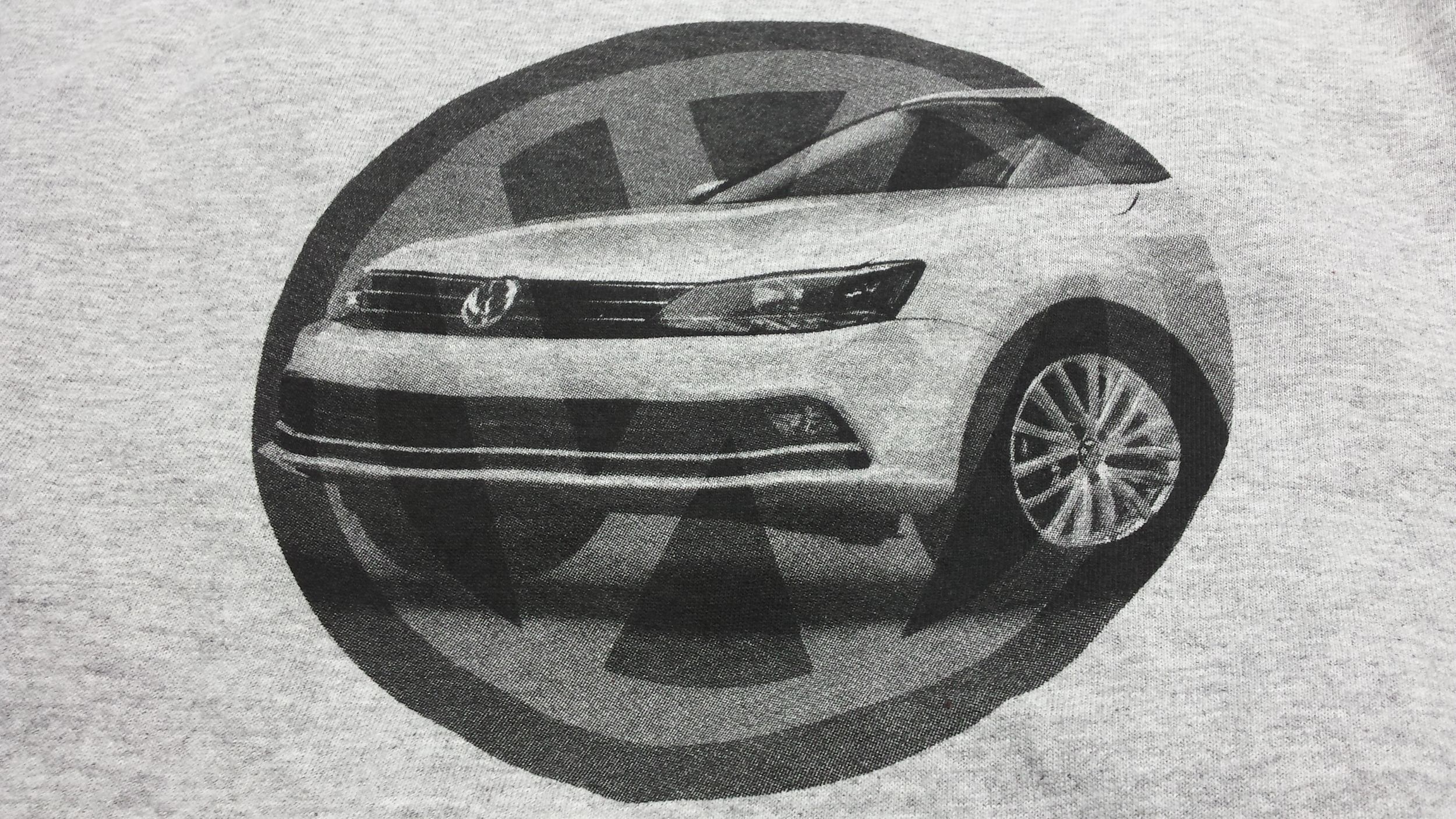 VW Jetta print done by Twin City Tees.