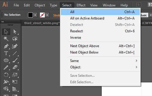 Adobe Illustrator Select All