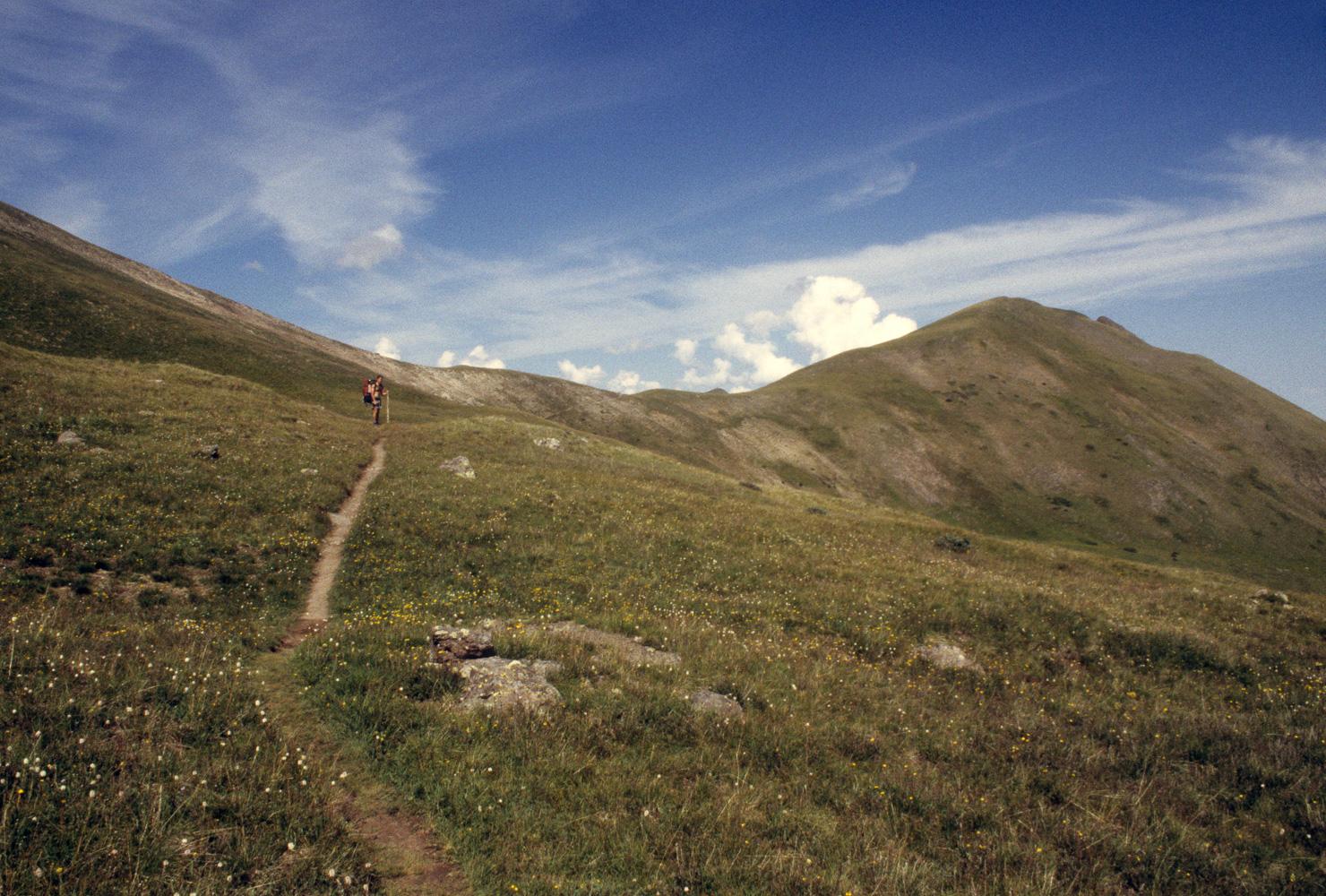 """Hiker near Snow Mesa"", The Colorado Trail, 2001"