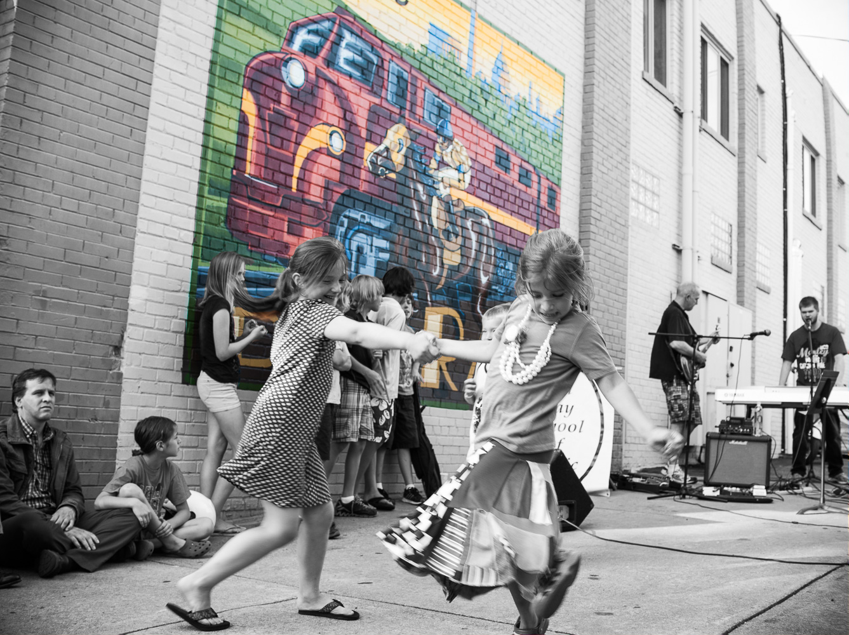"""First Thursday, Impromptu Dance"", Del Ray, 2013"