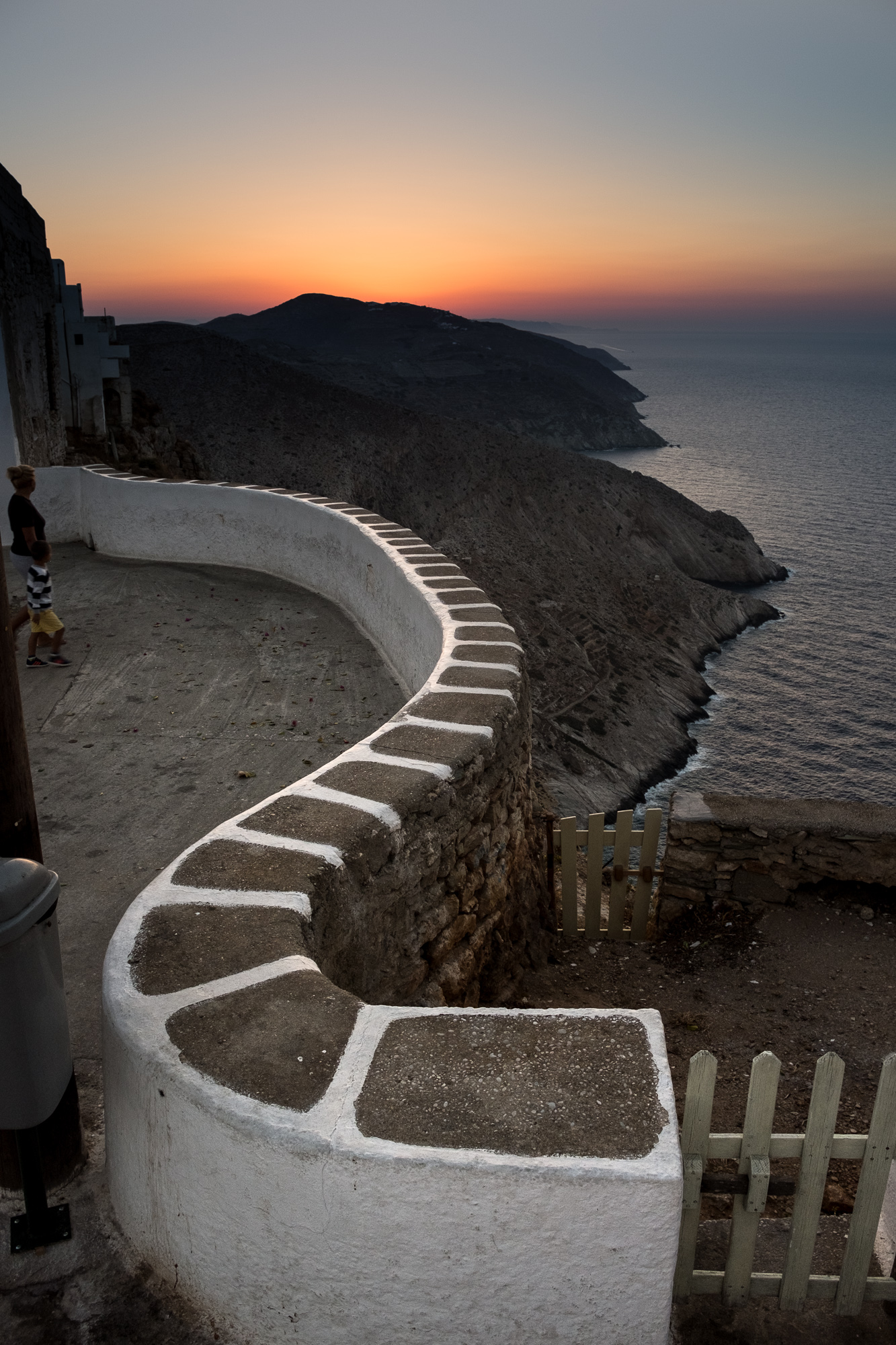 """Winding Wall"", Folegandros, Greece, 2016"