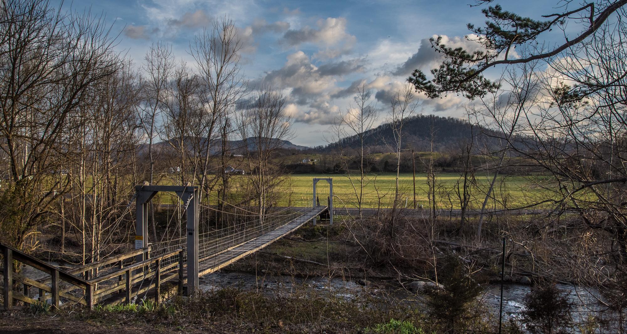 """""""Swinging Bridge"""" Criglersville, VA  March, 2018"""