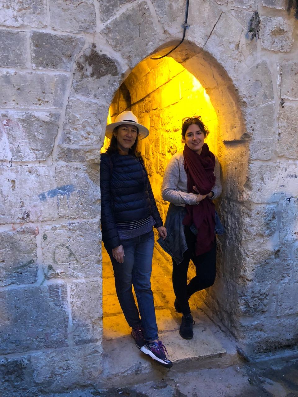 My Exhibit and me in Jerusalem last week.