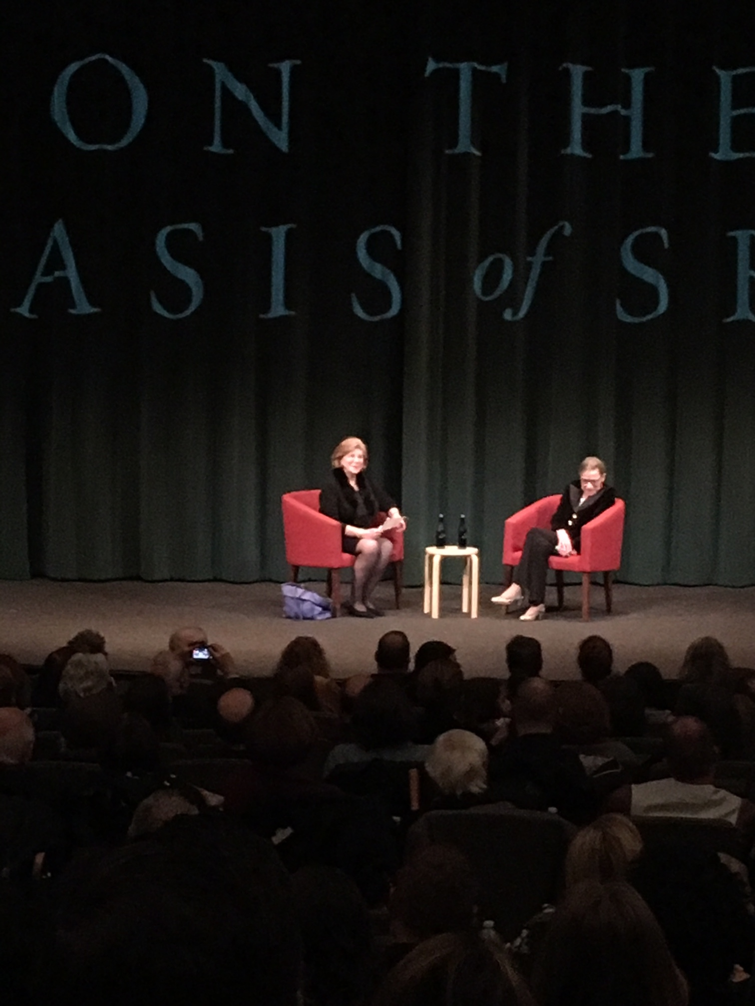 There she is, on the right. NPR's Nina Totenberg is on the left.