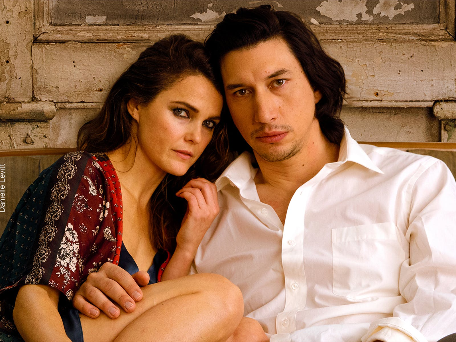 Keri Russell and Adam Driver