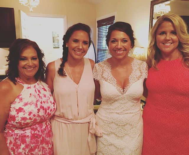 The privilege of today is unmatched. My best friend is a married woman! Dolling up her mom, sister, and mother in law along with her was sheer perfection. An honor! Love you, @clesnie ❤️ (team styling with my beloved twin @teamrochester and that was the best!)