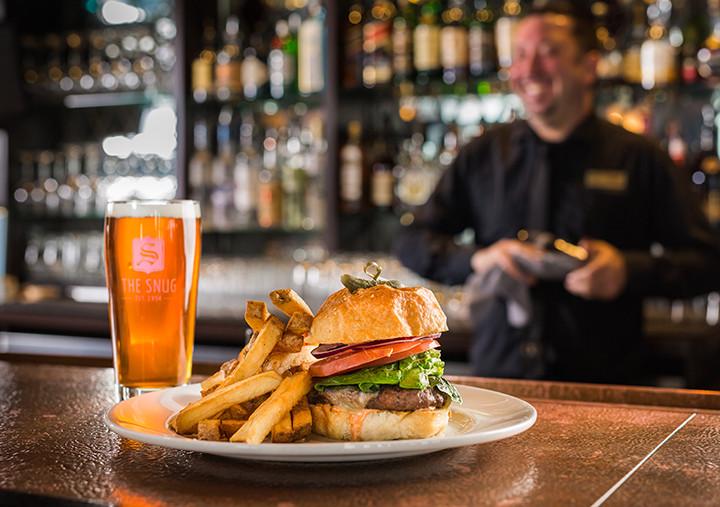 snug pub burger and beer.jpg