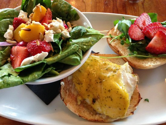 stickey wicket halibut burger with spinach salad.jpg