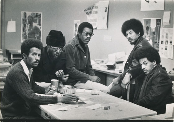 Black Panther Members at Chapter Headquarters, San Francisco, 1969.