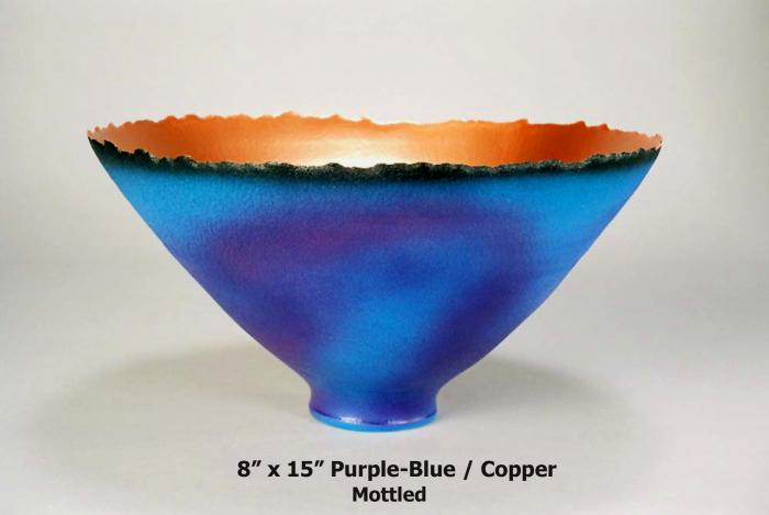 Purple-Blue Mottled Prosperity Bowl