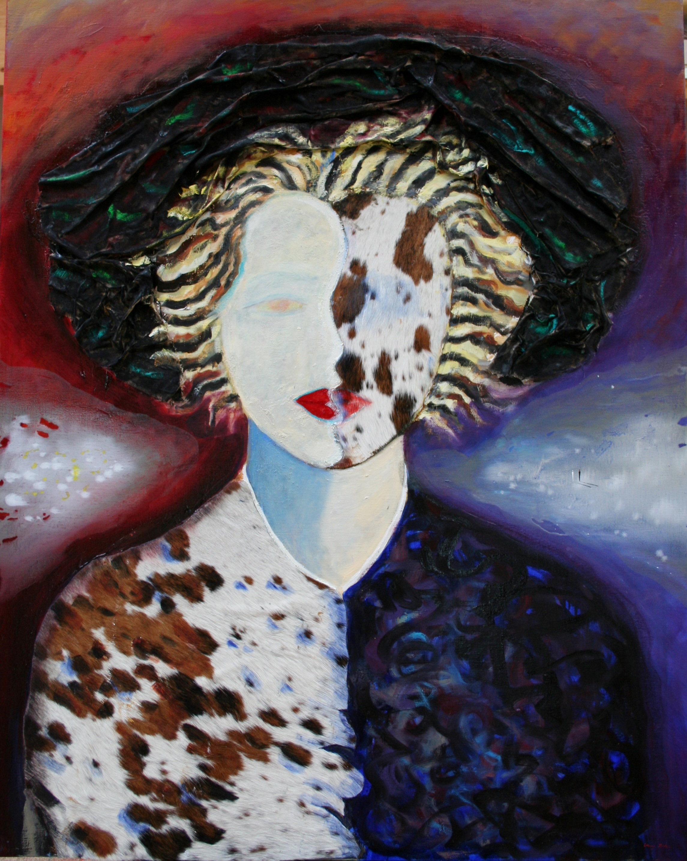 Nordic Noir Madonna, oil 140x115.JPG