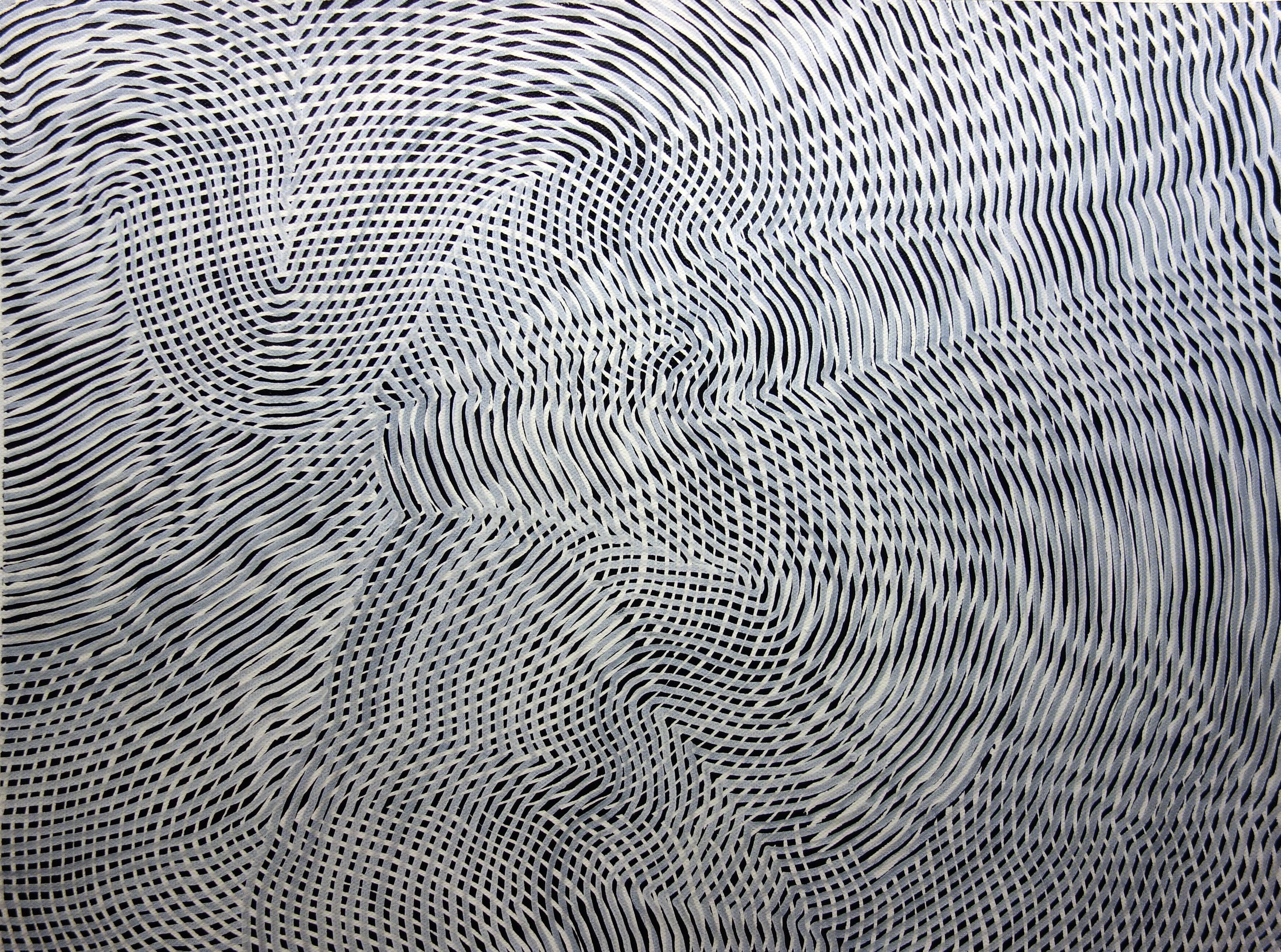 Lines 97  Varnish on Canvas  30cm x 40cm