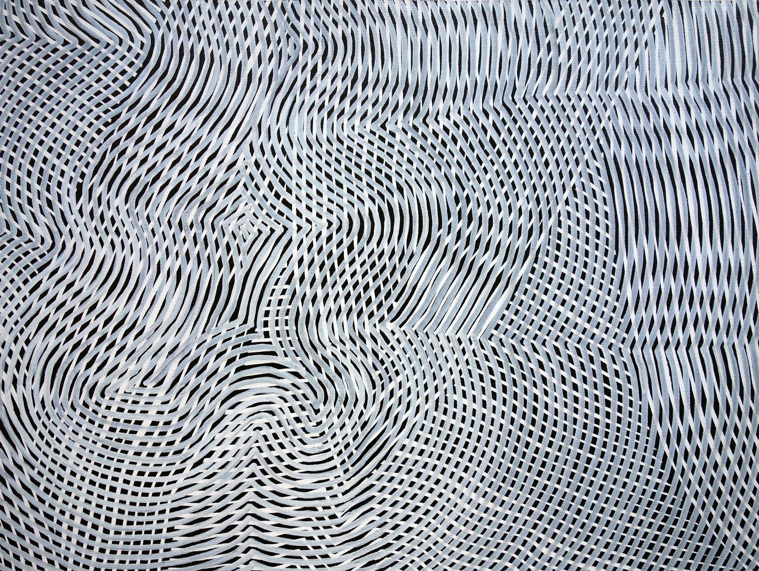 Lines 93  Varnish on Canvas  30cm x 40cm