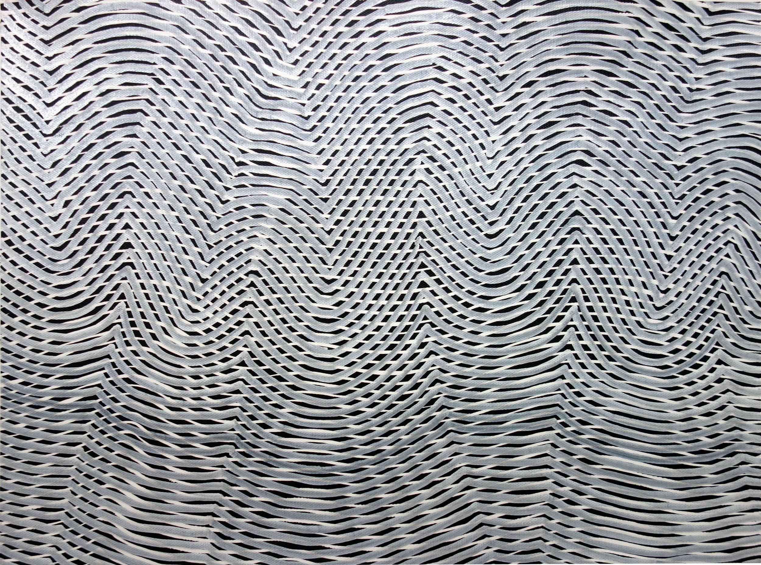 Lines 92  Varnish on Canvas  30cm x 40cm sold
