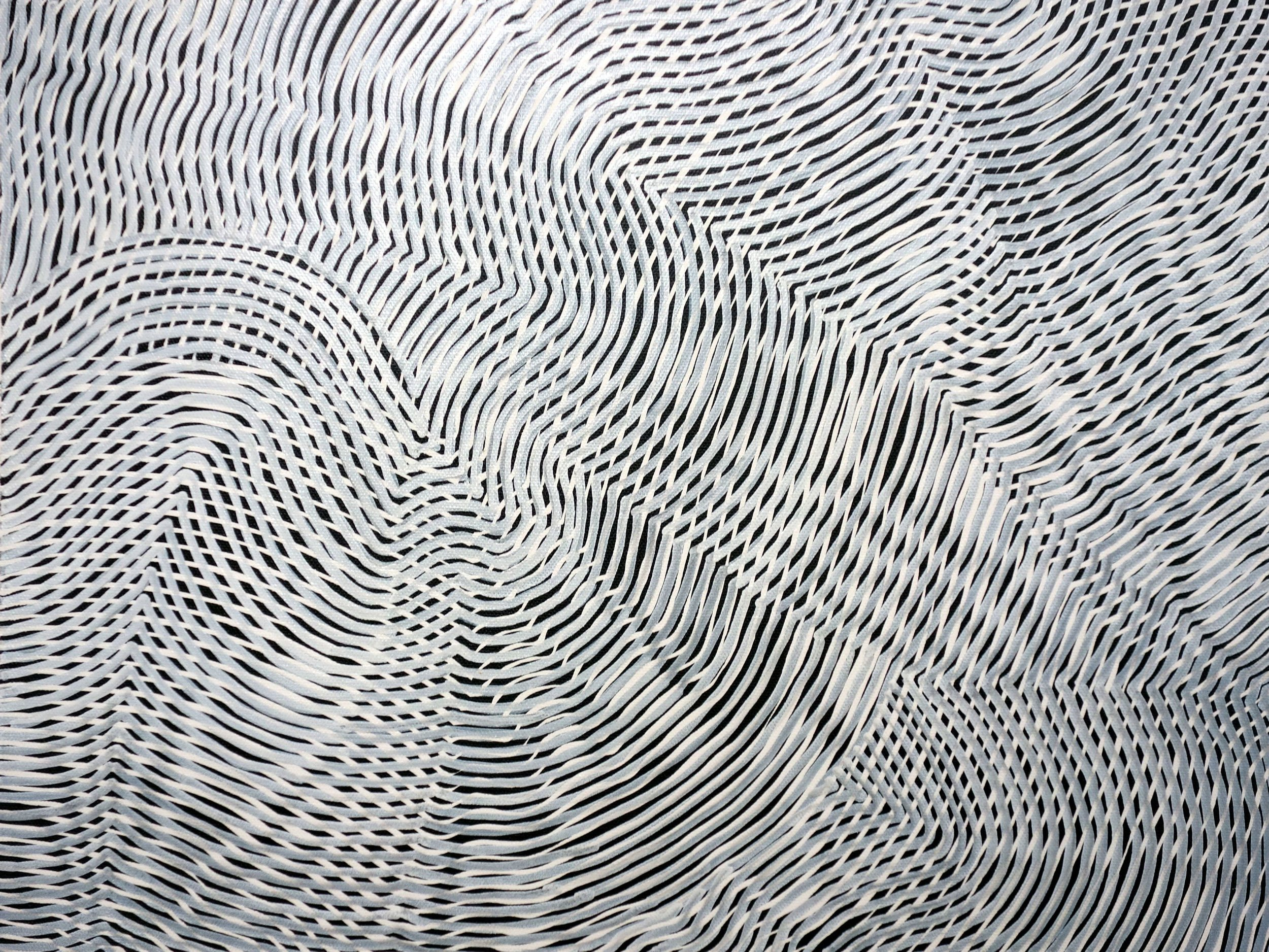 Lines 91  Varnish on Canvas  30cm x 40cm