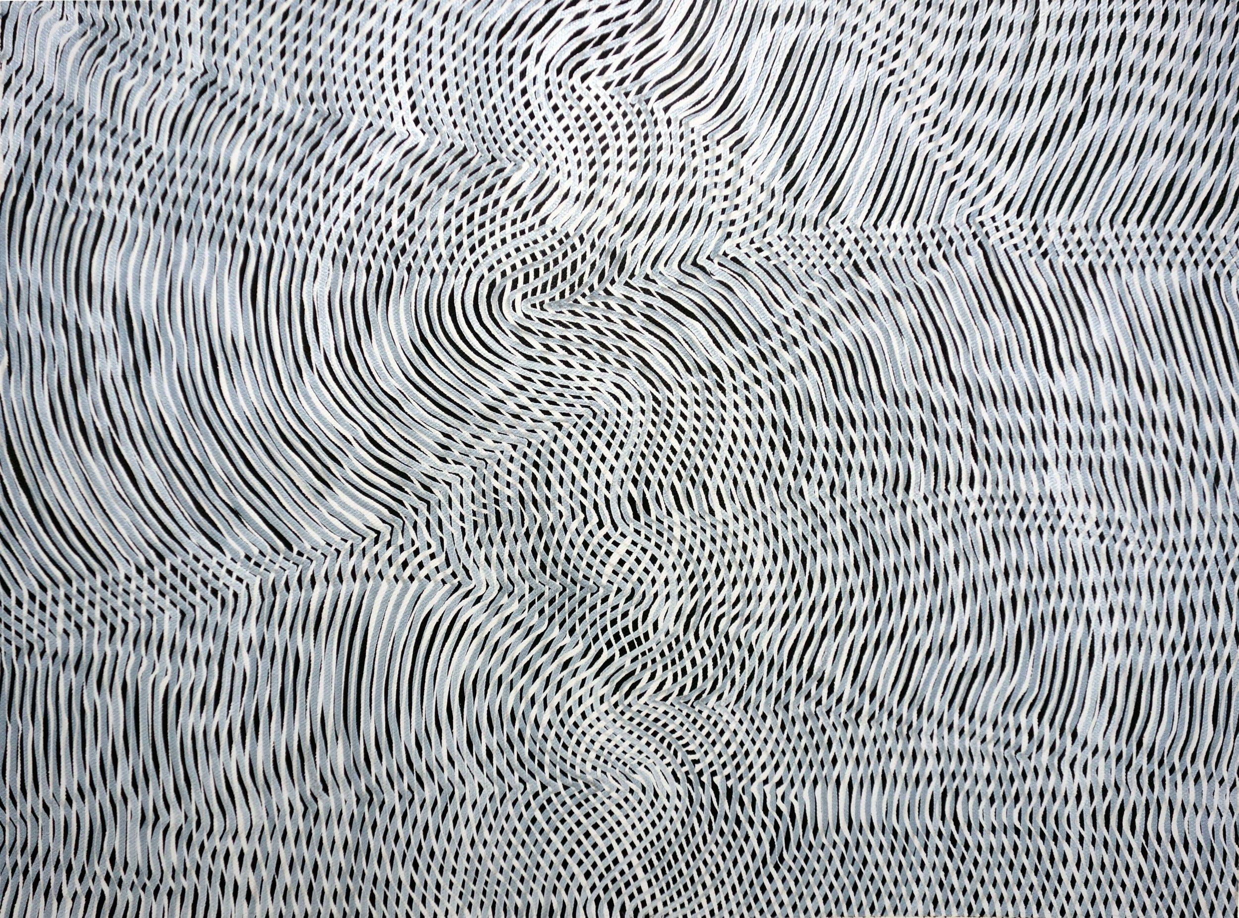 Lines 90  Varnish on Canvas  30cm x 40cm