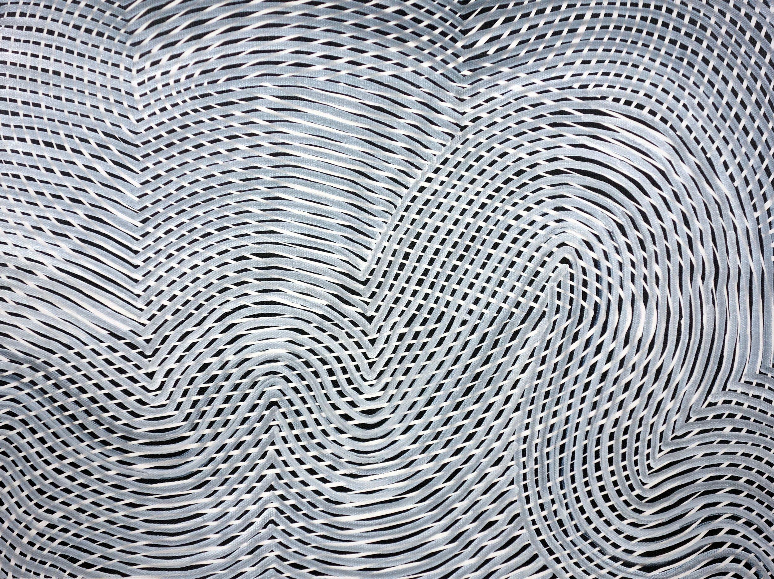 Lines 89  Varnish on Canvas  30cm x 40cm