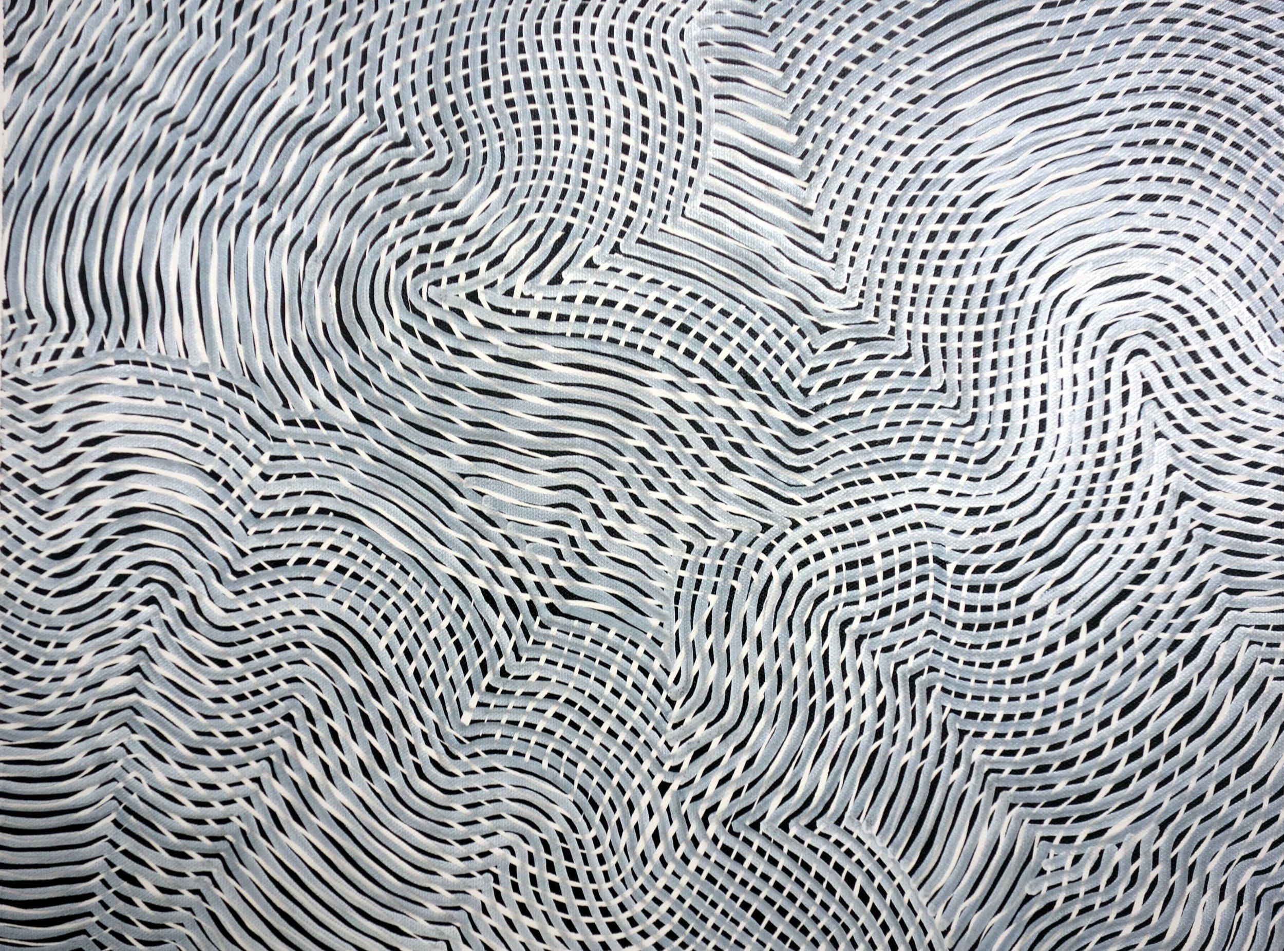 Line 88  Varnish on Canvas  30cm x 40cm