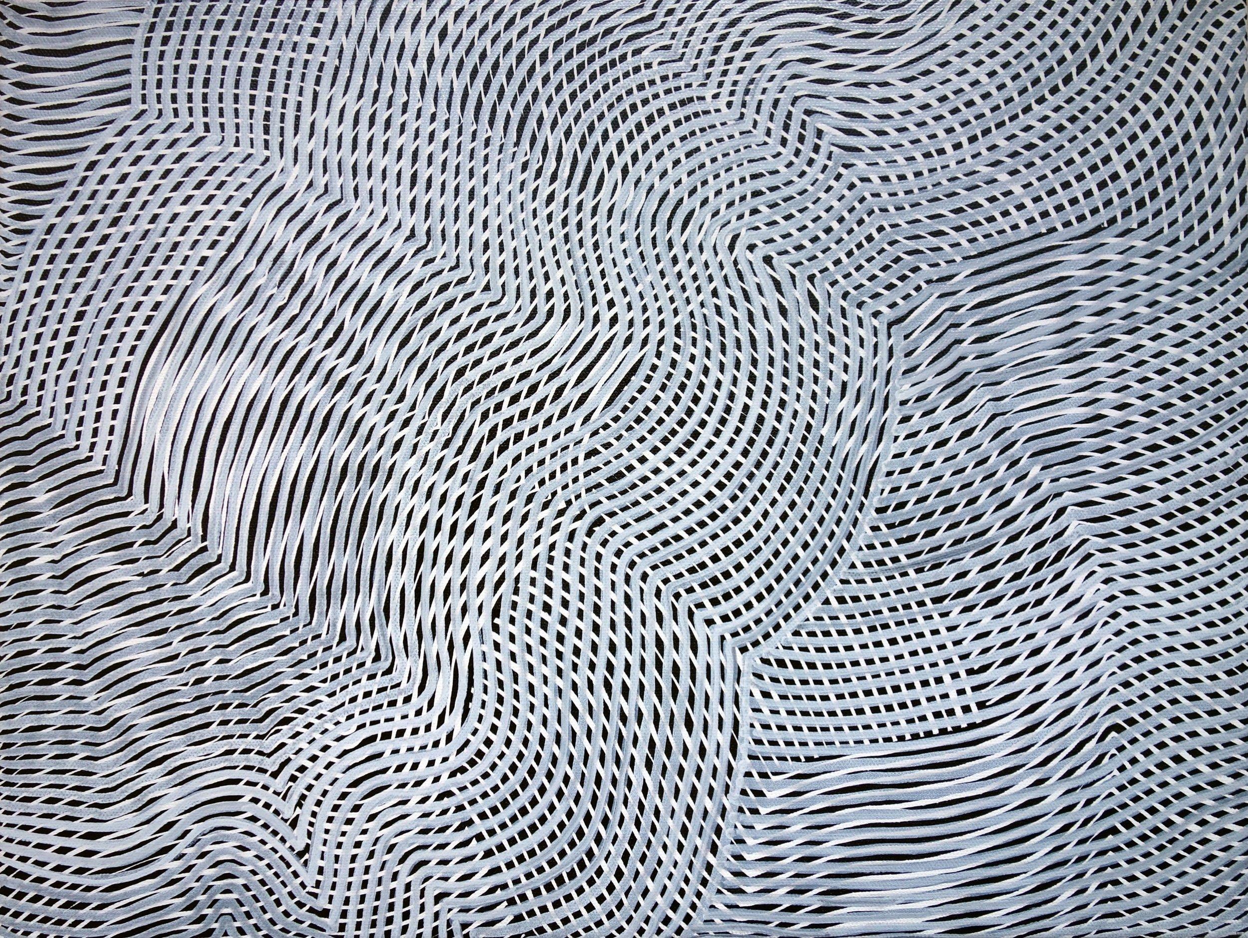 Lines 87  Varnish on Canvas  30cm x 40cm