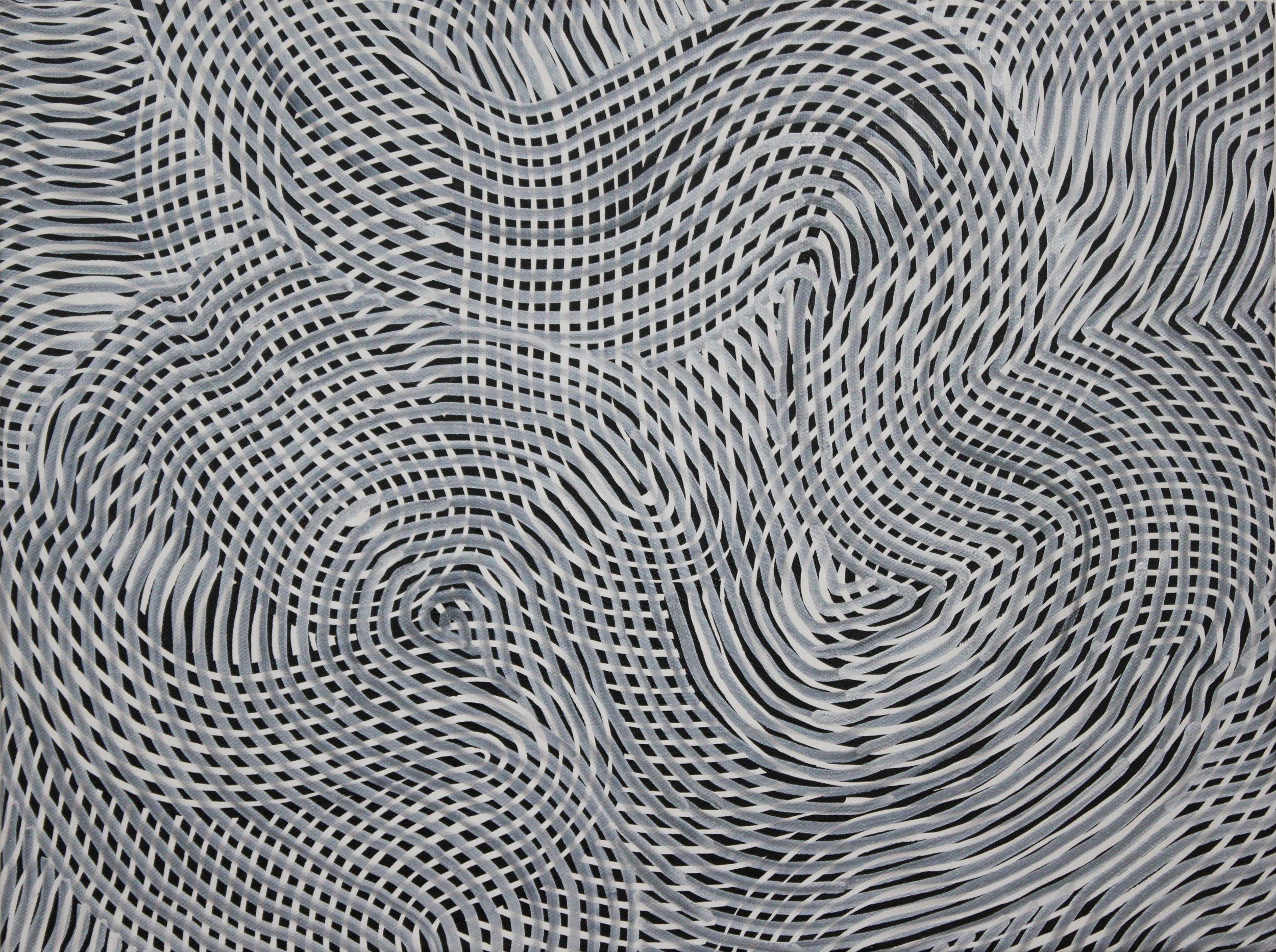 Lines 86  Varnish on Canvas  30cm x 40cm