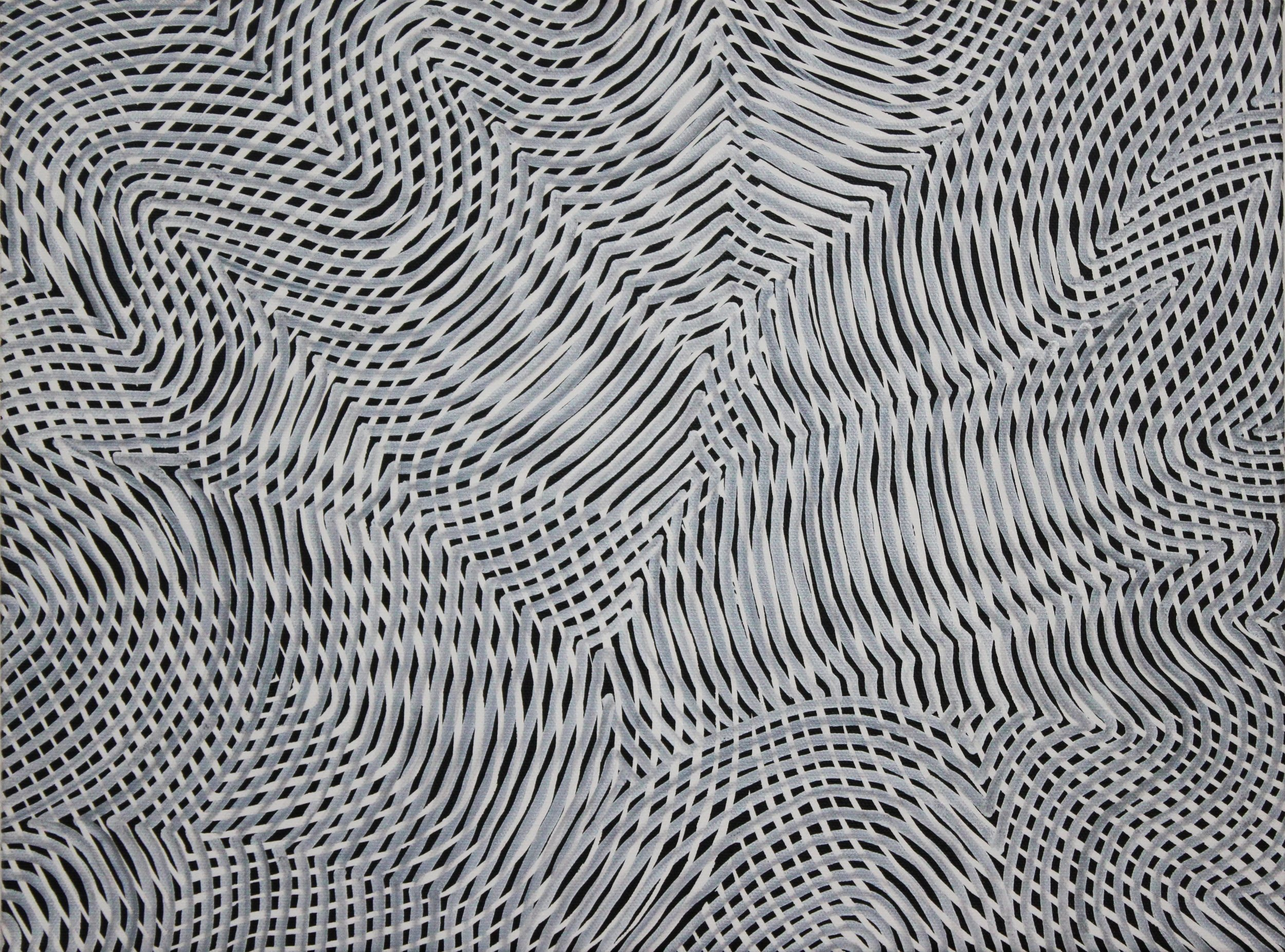 Lines 81  Varnish on Canvas  30cm x 40cm