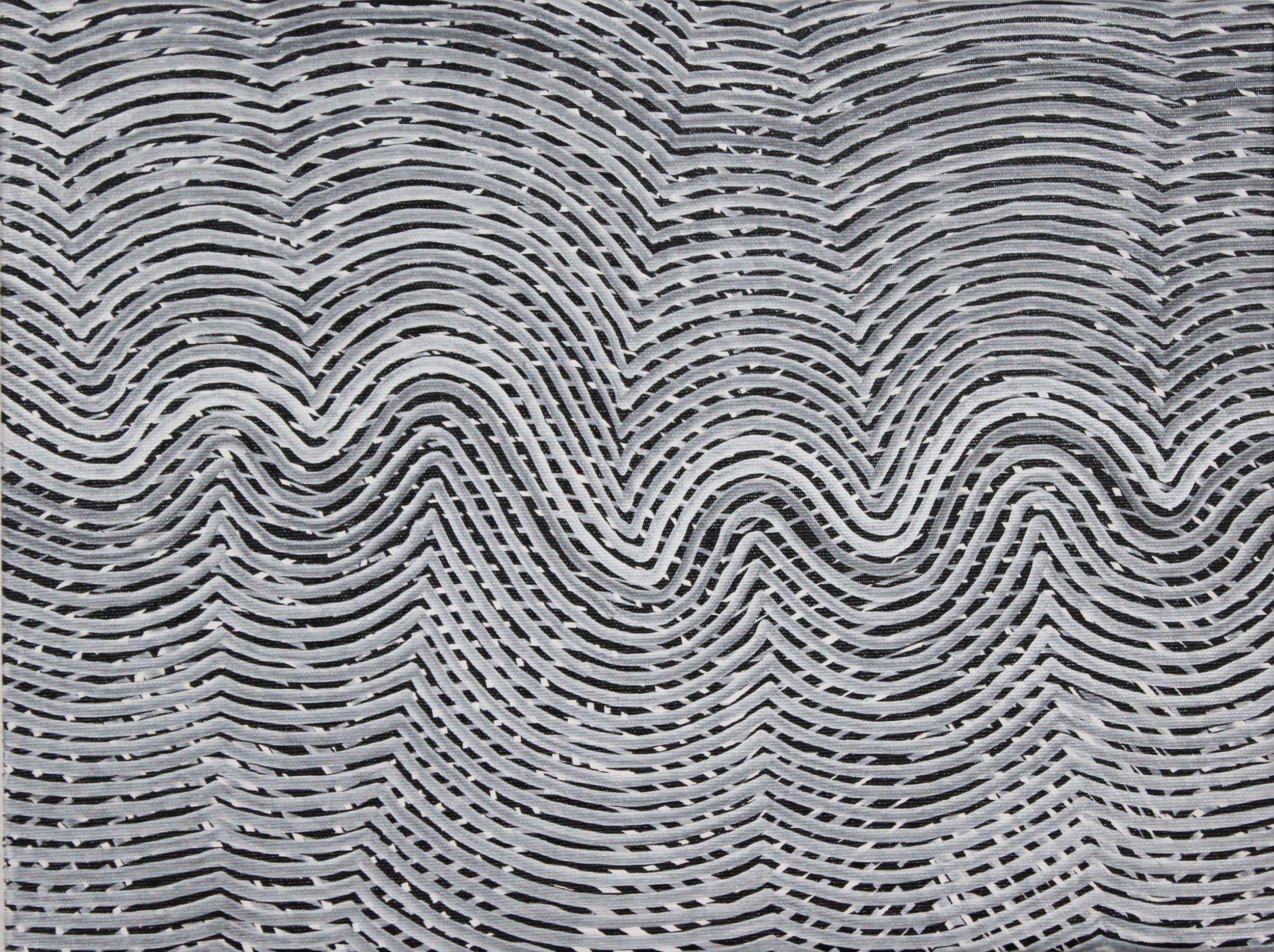 Lines 79  Varnish on Canvas  30cm x 40cm