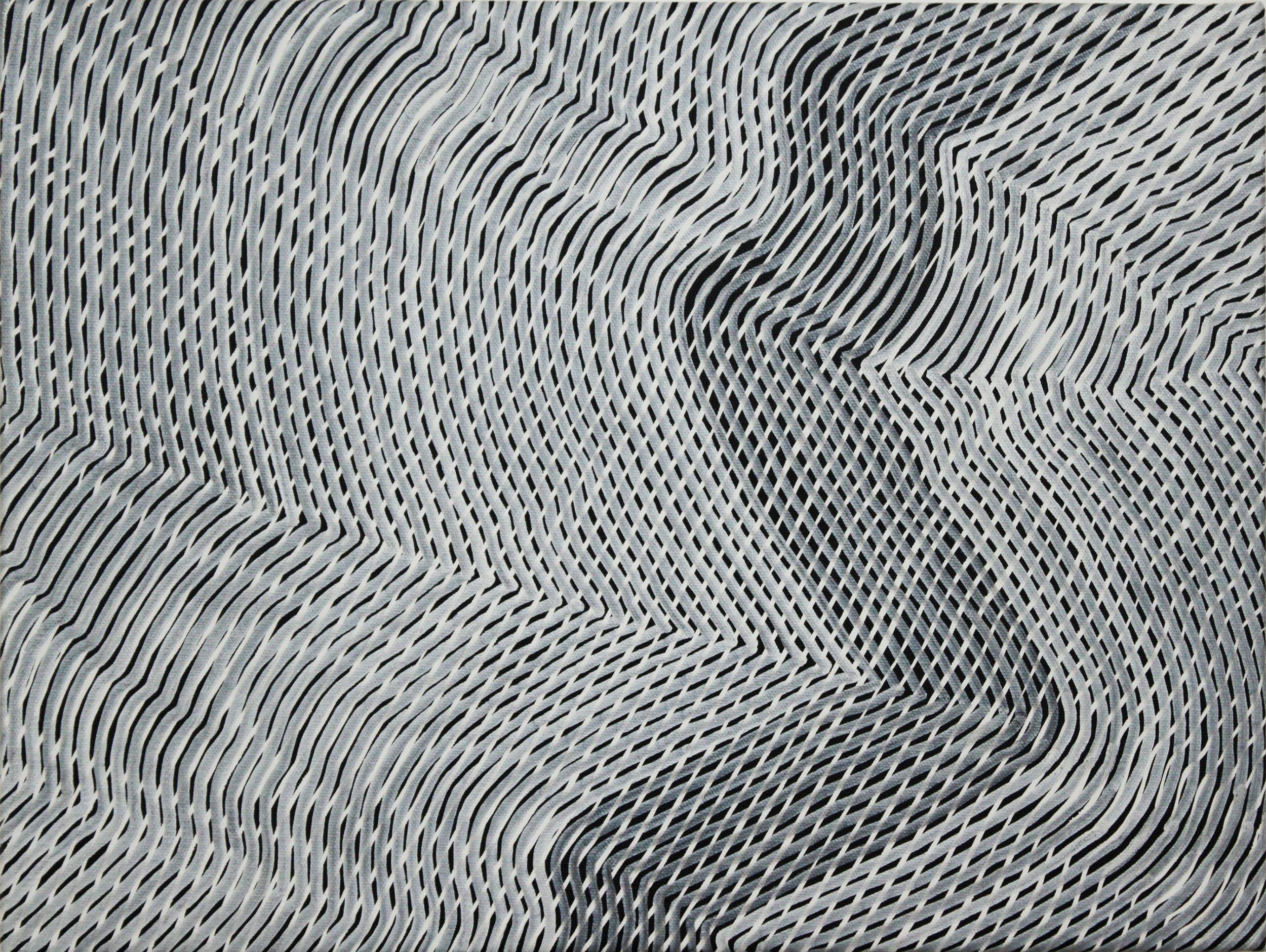 Lines 78  Varnish on Canvas  30cm x 40cm