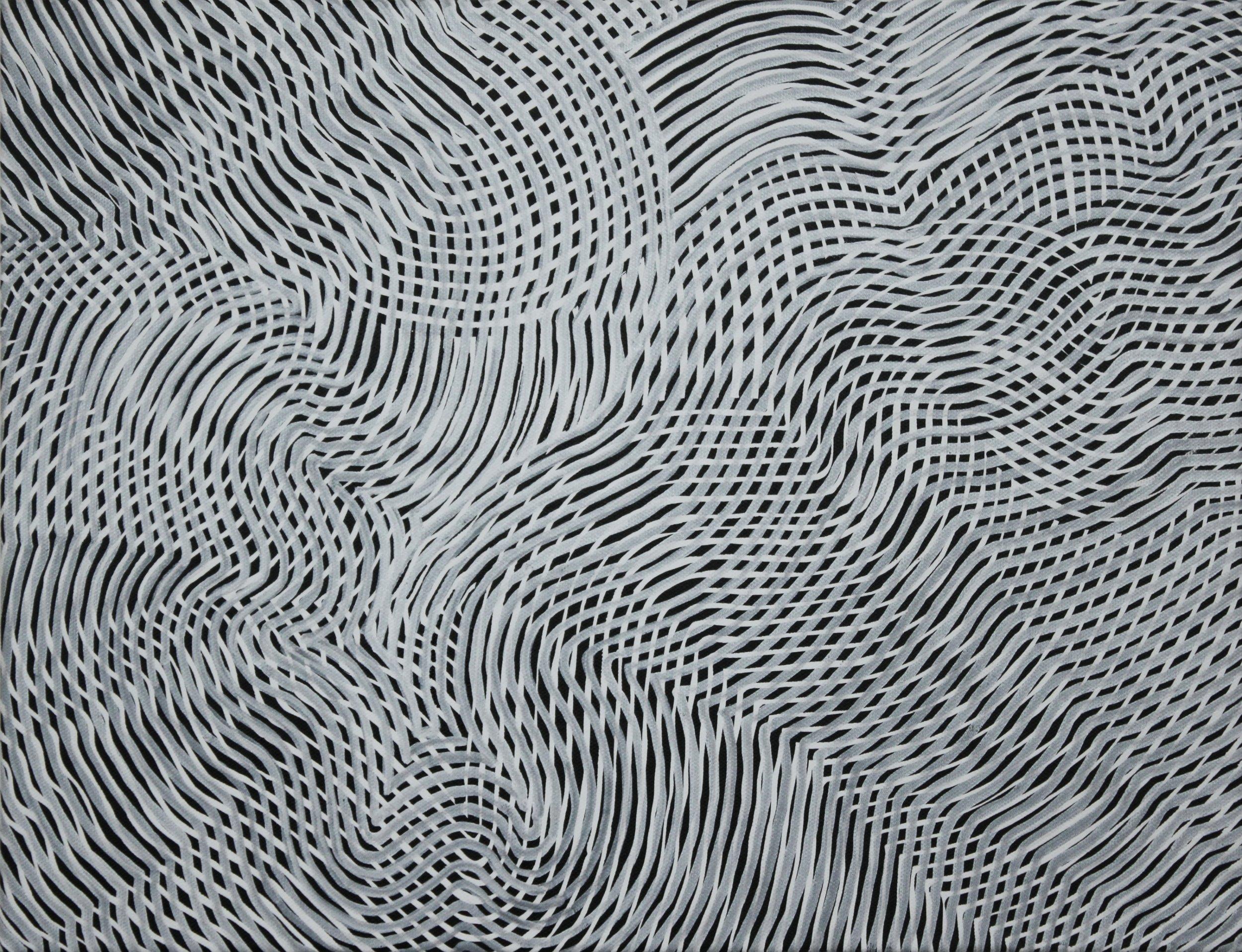 Lines 76  Varnish on Canvas  30cm x 40cm