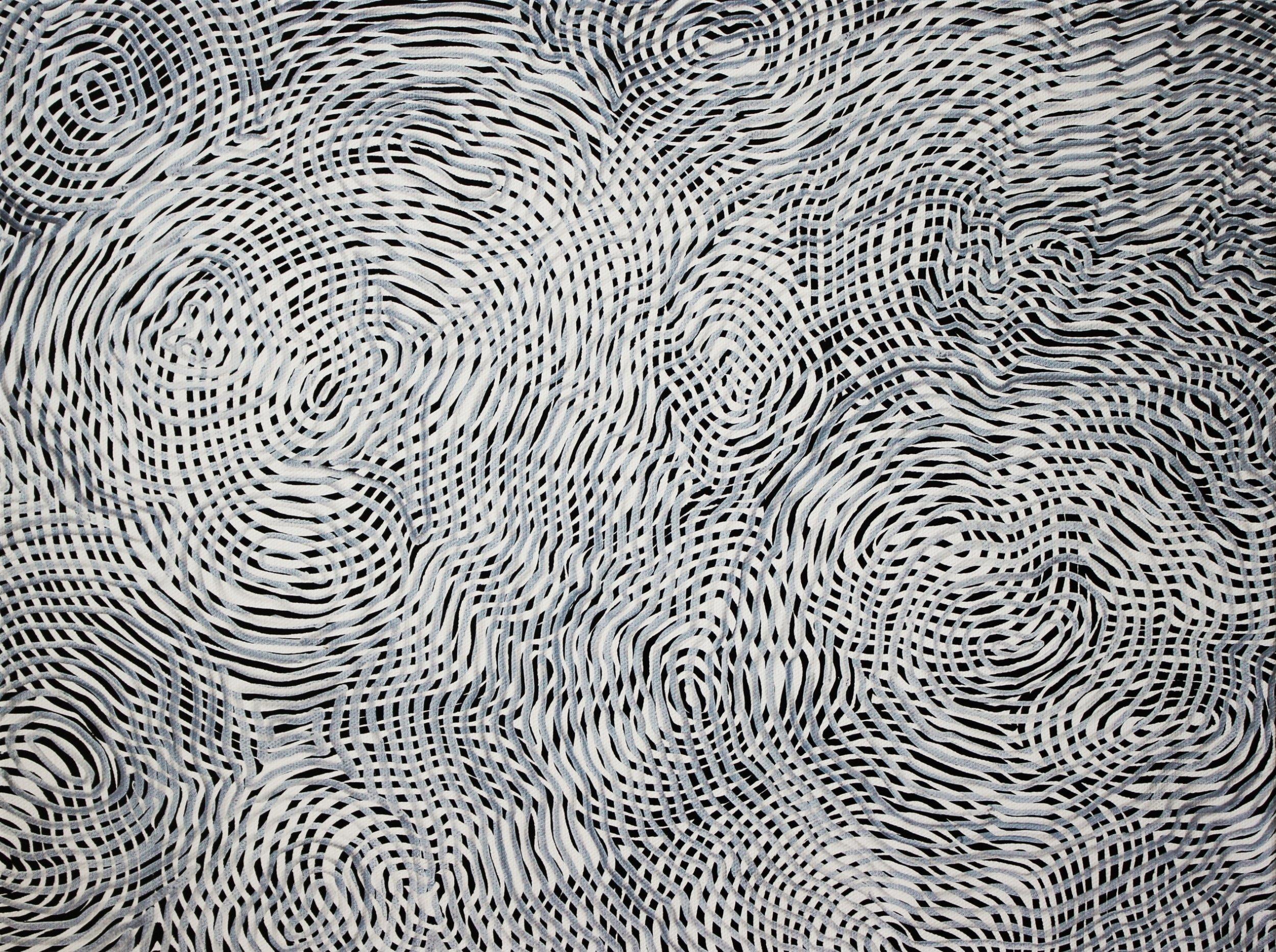 Lines 74  Varnish on Canvas  30cm x 40cm