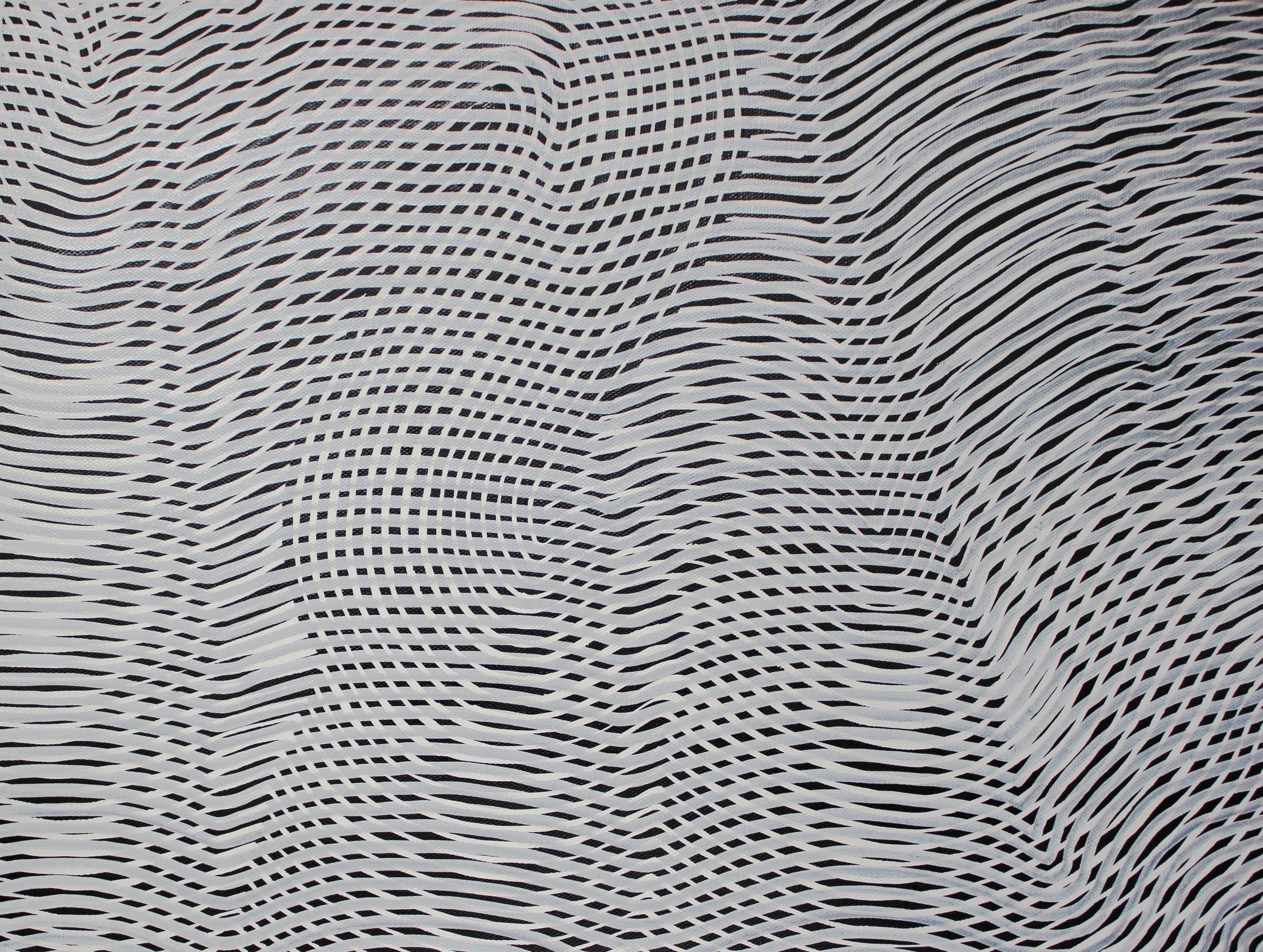 Lines 73  Varnish on Canvas  30cm x 40cm