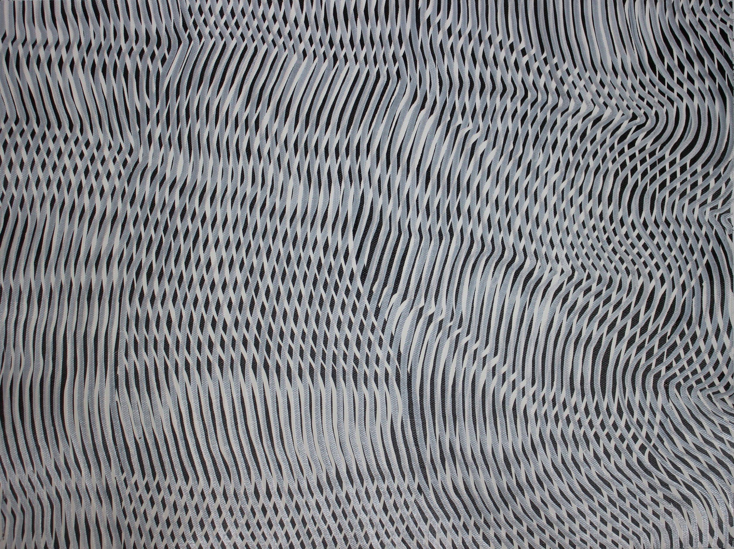 Lines 72  Varnish on Canvas  30cm x 40cm