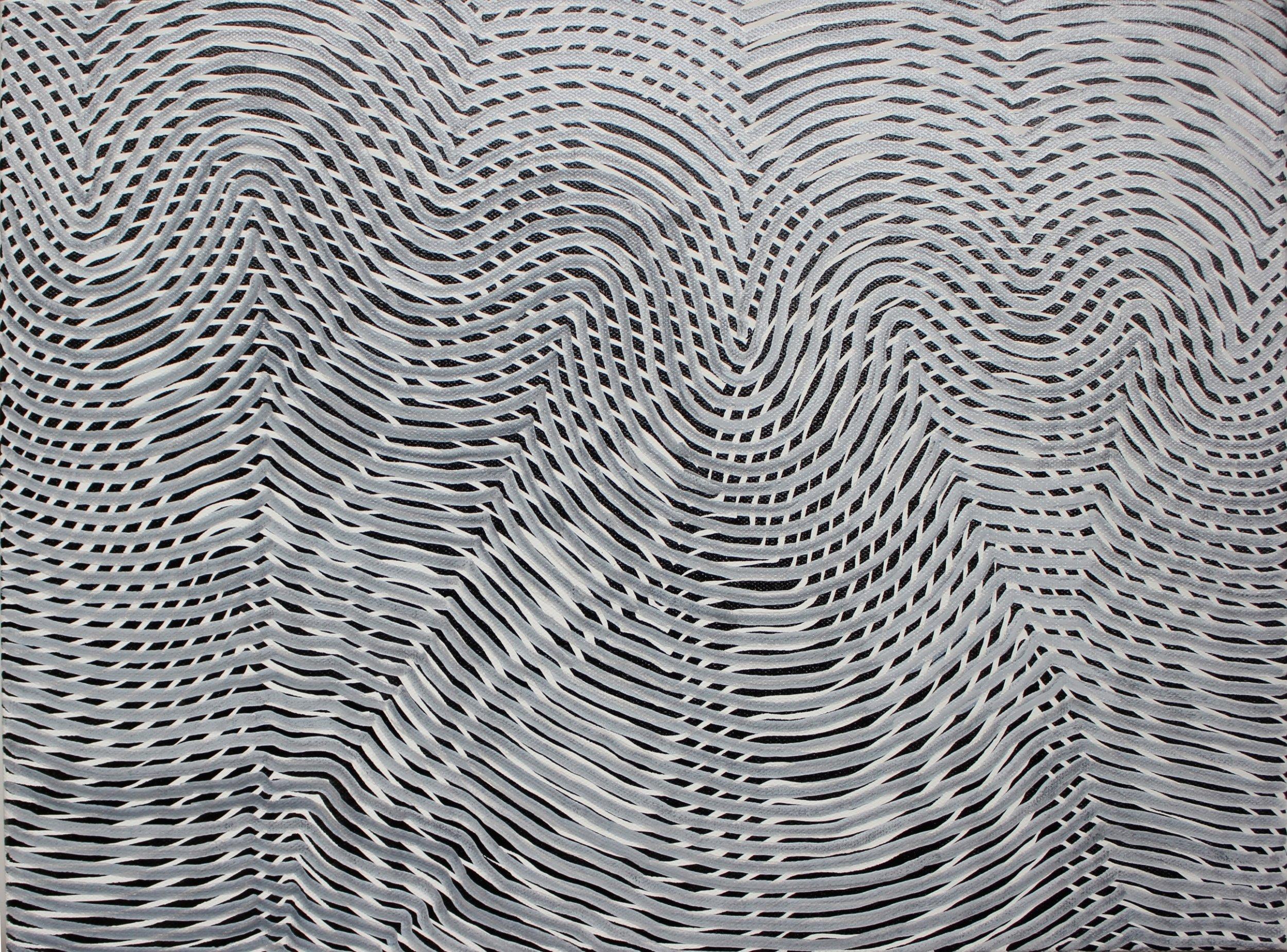 Lines 71  Varnish on Canvas  30cm x 40cm sold