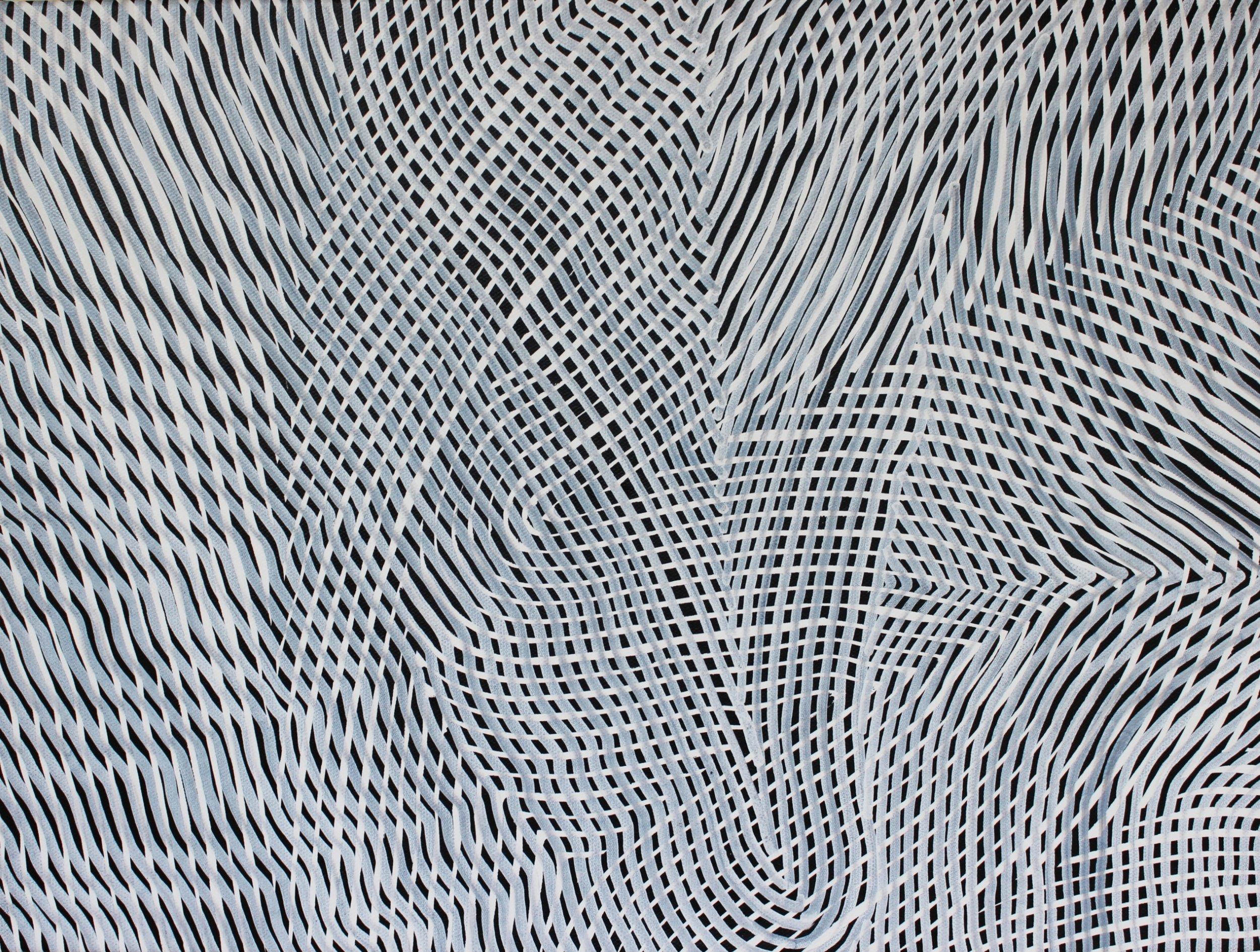 Lines 69  Varnish on Canvas  30cm x 40cm