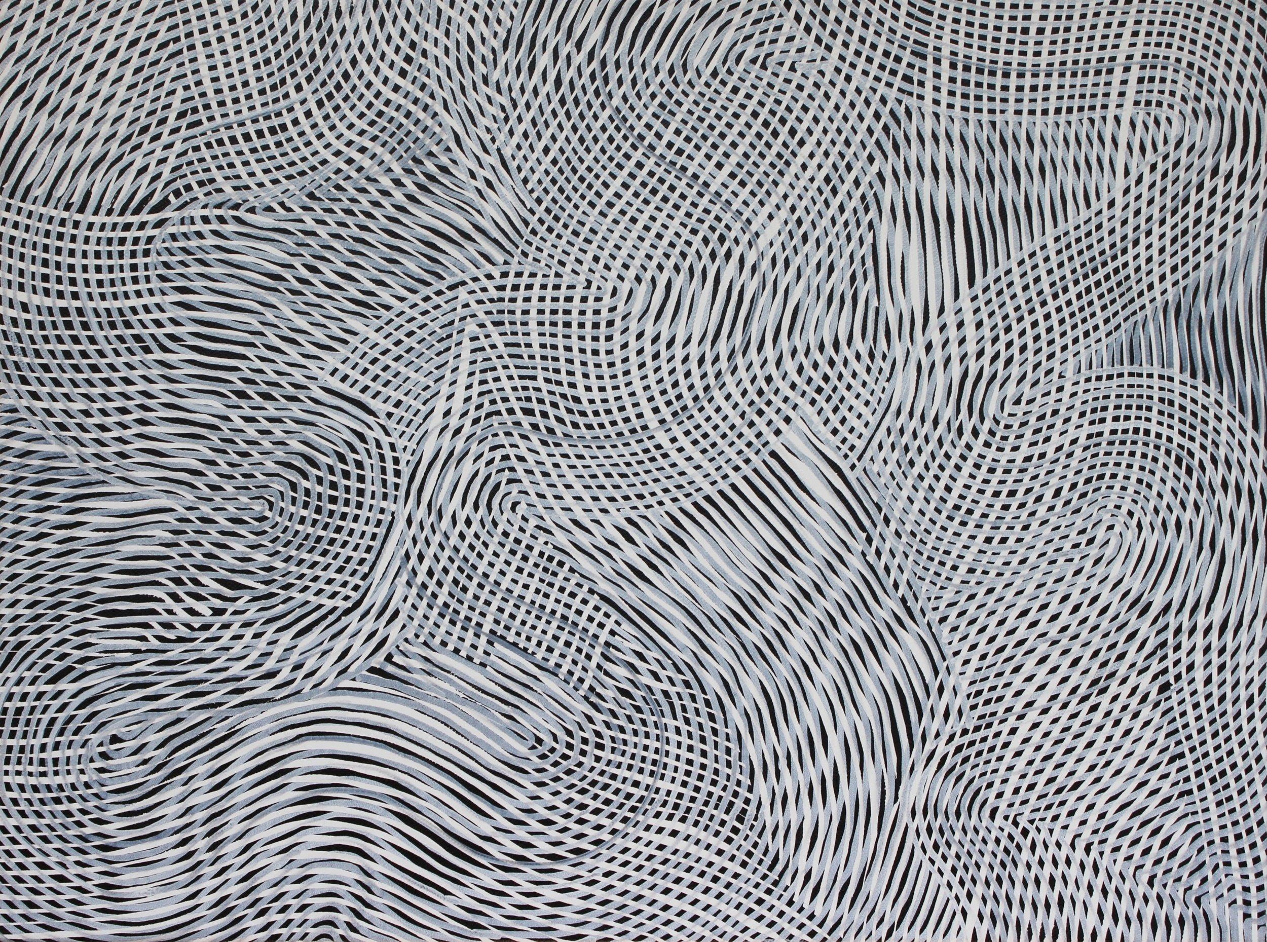 Lines 68  Varnish on Canvas  30cm x 40cm